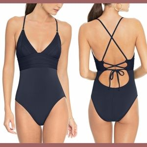 NEW $148 Robin Piccone Lily One-Piece Swimsuit 10